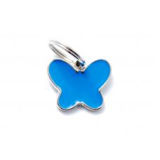 My family medaglietta farfalla blu