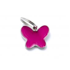 My family medaglietta farfalla rosa