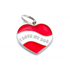 My family medaglietta cuore rosso