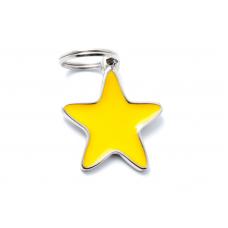My family medaglietta stella gialla