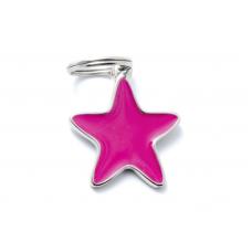My family medaglietta stella rosa