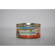 Naturina umido gatto pollo con manzo 70 gr