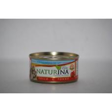 Naturina umido gatto pollo e tonno 70 gr
