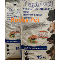 2xTropidog adult salmone 2x15Kg (senza carne e olio di pollo)