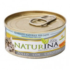 Naturina umido gatto pollo con carotine 70 gr
