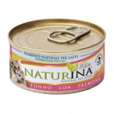 Naturina umido gatto tonno  con salmone 70 gr