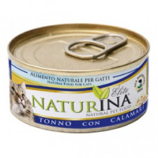 Naturina umido gatto tonno  con calamari 70 gr