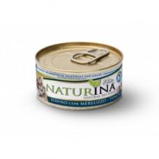 Naturina umido gatto tonno  con merluzzo 70 gr