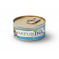 Naturina umido gatto tonno  con orata 70 gr