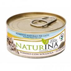 Naturina umido gatto tonno  con sogliola 70 gr