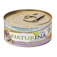 Naturina umido gatto tonno  con pollo grigliato 70 gr