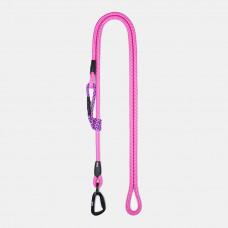 Guinzaglio Ringhio 180cm moschettone climb rosa